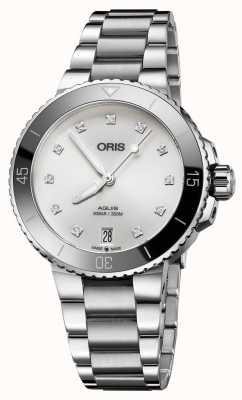 Oris Womens aquis diamond set Stahluhr 01 733 7731 4191-07 8 18 05P