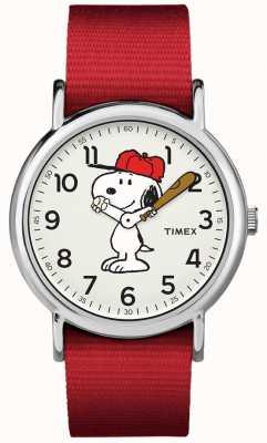 Timex Snoopy Uhr des roten Bügels TW2R414006B