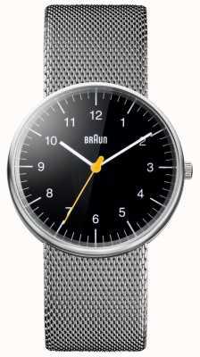 Braun Unisex Stahlgitter Armbanduhr BN0021BKSLMHG