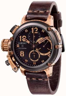 U-Boat Limited Edition Chimäre 43 mm B & B Chrono braunes Leder 8015