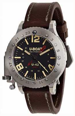 U-Boat U-42 gmt 50mm braunes Lederband in limitierter Auflage 8095