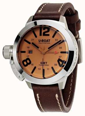 U-Boat Classico 45 gmt Lederuhr automatisch braunes Leder 8051