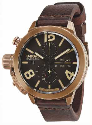 U-Boat Classico 50 bronze ca br automatische braun Lederband 8064