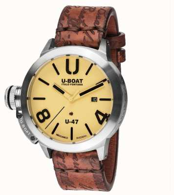 U-Boat Classico 47 as2 automatisches braunes Lederband 8106