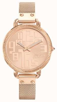 Jean Paul Gaultier Damen Index Rose Gold PVD Mesh Roségold Zifferblatt JP8504308