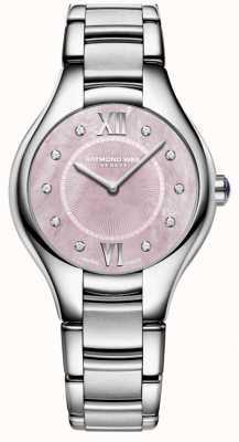 Raymond Weil Womans noemia Diamant Quarz Perlmutt Uhr 5132-ST-00986