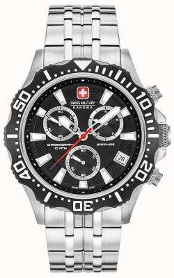 Swiss Military Hanowa Herren Patrol Chronograph mattschwarzes Zifferblatt 06-5305.04.007