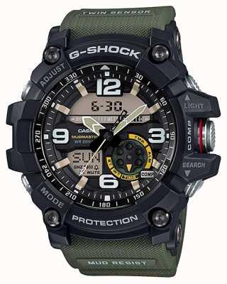 Casio G-Shock Mudmaster Zwillingssensor Kompass grün Band GG-1000-1A3ER