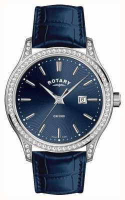 Rotary Oxford Quarzuhr Damenuhr aus Leder LS05092/05