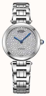 Rotary Drehbare Kensington-Stahlquarz-Uhr LB05190/33