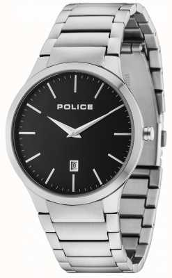 Police Horizon Silberarmband schwarzes Zifferblatt 15246JS/02M