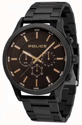 Police Pace schwarzes Armband mit schwarzem Zifferblatt 15002JSB/02M