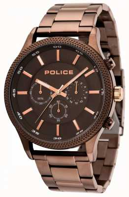 Police Pace braunes Armband mit grauem Zifferblatt 15002JSBN/13M