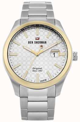 Ben Sherman Das Ronnie Professional Silber Zifferblatt Goldgehäuse Edelstahl WBS109GSM