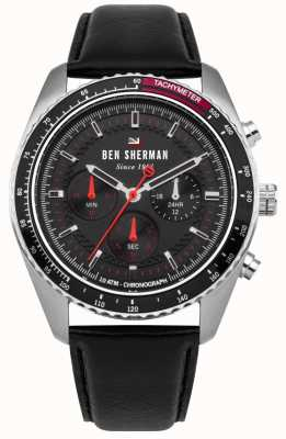 Ben Sherman Das Ronnie Chronograph Sunray Zifferblatt rote Highlights WBS108RB