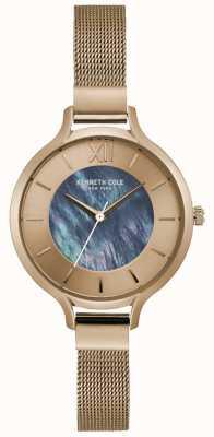 Kenneth Cole New York Silber Zifferblatt Edelstahl Mesh Armband KC15187001