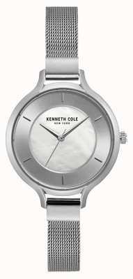Kenneth Cole Damen New York Silber Gehäuse Edelstahl Mesh Armband KC15187002