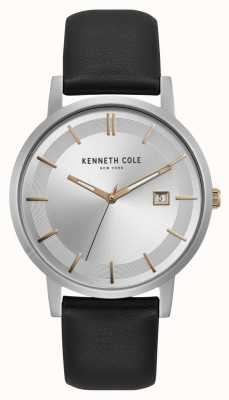 Kenneth Cole New York Silber Zifferblatt Roségold Marker Datumsanzeige KC15202001