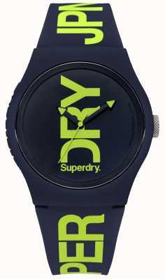 Superdry Navy Silikon mit grünem Textdruck SYG189UN