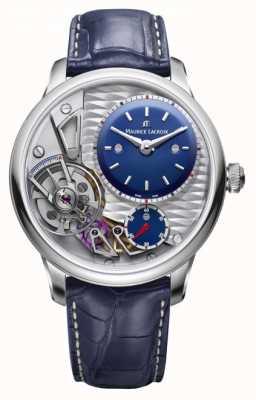 Maurice Lacroix Meisterwerk Schwerkraft 25. Jubiläum blaues Lederband MP6118-SS001-434-1