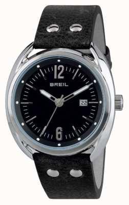 Breil Beaubourg Edelstahl schwarzes Zifferblatt schwarzes Band TW1669
