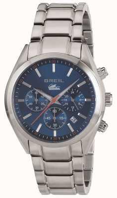 Breil Manta City Edelstahl Chronograph blaues Zifferblatt Armband TW1605