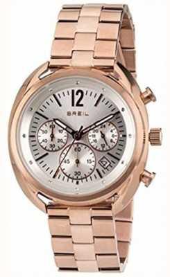 Breil Beaubourg Edelstahl ipr Chronograph Silber Zifferblatt TW1674