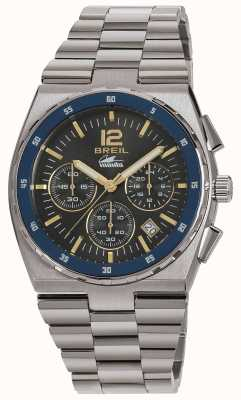 Breil Manta Sport Edelstahl Chronograph Pistole Zifferblatt Armband TW1641