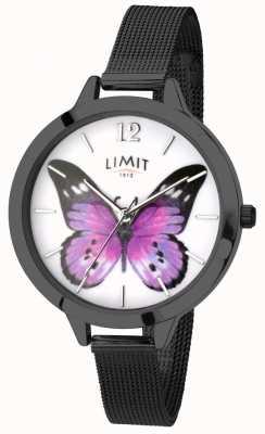 Limit Womens Geheimnis Garten schwarz Mesh Schmetterling Uhr 6274.73