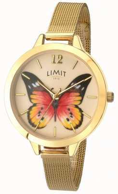 Limit Womens Geheimnis Garten Gold Mesh Schmetterling Uhr 6276.73
