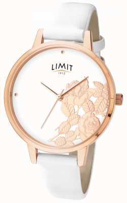 Limit Flaches weißes florales Zifferblatt für Damen 6290.73