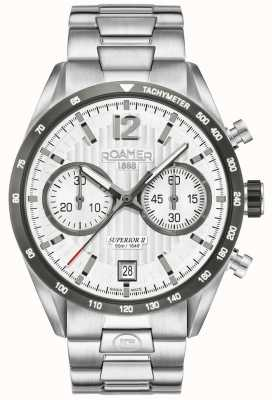 Roamer Mens Superior Chrono II Silber Armbanduhr 510902411450