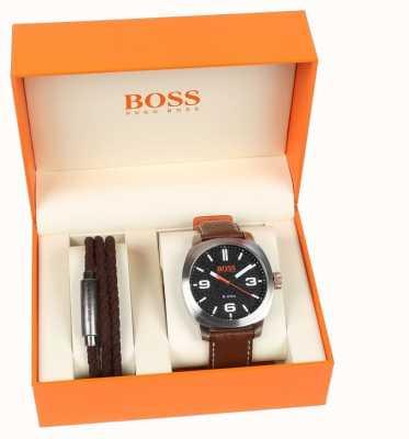 Hugo Boss Orange Mens Kapetown Uhr und Armband Geschenkset 1570051