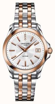 Certina Damen DS Prime Diamond Two Tone Uhr C0042102203600