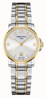 Certina Damen ds caimano zweifarbige Uhr C0172102203700
