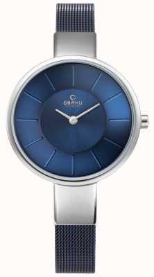 Obaku Womens Solwatch blau Mesh V149LXCLML