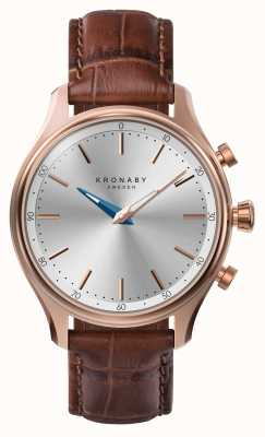 Kronaby 38mm sekel bluetooth rose gold lederarmband a1000-2748 S2748/1