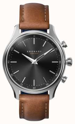 Kronaby 38mm sekel bluetooth stahl lederband smartwatch A1000-2749
