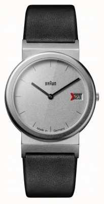 Braun Klassisches 1989 Tribut Design schwarzes Lederarmband grau AW50