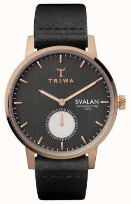 Triwa Noir svalan schwarz klassisch super schlank SVST101-SS010114