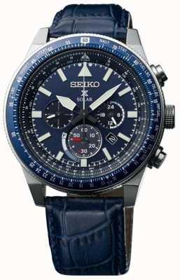 Seiko Herren Sky Prospex Solaruhr blau SSC609P1
