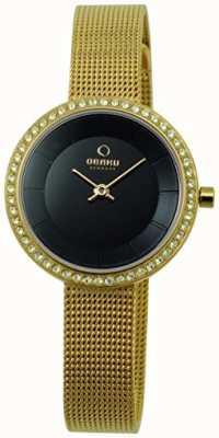 Obaku Frauen 27mm Gold-Ton Stahlarmband & Quarz V146LGBMG2