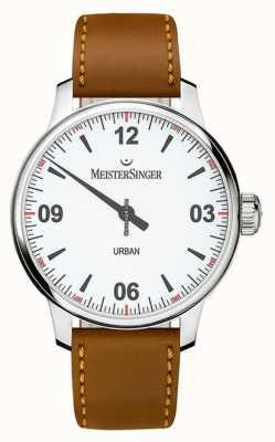 MeisterSinger Urban weißes Zifferblatt Opal Silber UR901