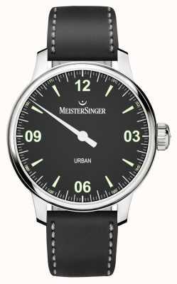 MeisterSinger Urban Mens schwarzes Zifferblatt und Armband UR902