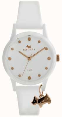 Radley Damen weiß 33mm Gehäuse weißes Zifferblatt weiß Silikonband RY2638