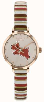 Radley Ladies 24mm Gehäuse Zifferblatt Kreide / Tan Korallen Lederband RY2628