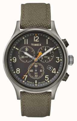 Timex Allied Chrono grün Nylonarmband / schwarzes Zifferblatt TW2R47200