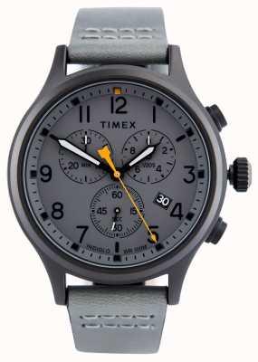 Timex Alloy Chrono grau Lederarmband / graues Zifferblatt TW2R47400