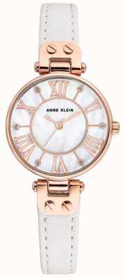 Anne Klein Damen Jane Uhr Roségold Gehäuse Lederarmband AK/N2718RGWT