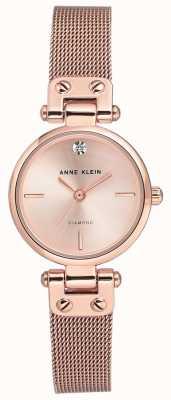 Anne Klein Womens isabel rosé goldfarbenes Netzarmband und Zifferblatt AK/N3002RGRG